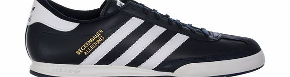 Adidas Beckenbauer Allround Navy/White Leather Adidas Beckenbauer Allround Navy/White Leather Trainer Colourway
