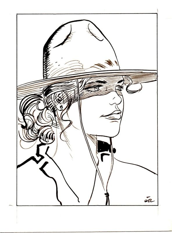 Portrait de Chihuahua Pearl par Jean Giraud - Illustration