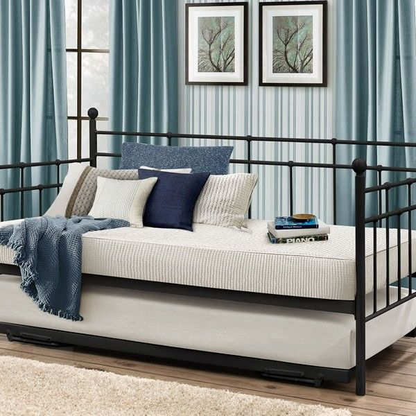 Justine 3ft Black Metal Day Bed Luxury Bed Frames Trundle Bed