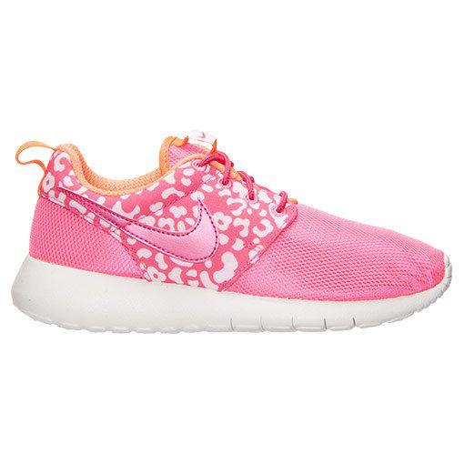 NEW!!  Blinged Pink / White Print Girls' / Women's Nike Roshe Run