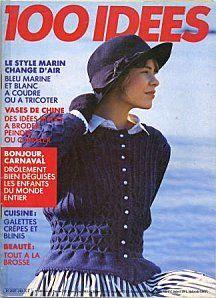 Gilet bleu à basque, 100 Idées n° 148.