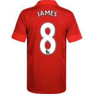16-17 Leicester City Cheap Away James #8 Replica Football Shirt [I00301]