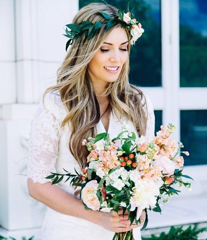 Herbst Hochzeit frische Schnittblumen arrangieren