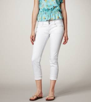 AE & Aerie | Clearance items are an additional 30% off, plus use our code for an extra 15% off. Pictured: Artist Crop Jean - White Wash: Ae Artist, Artists, Style, American Eagle, White Ae, White Pants, Artist Crop, Crop Jeans, White Jeans