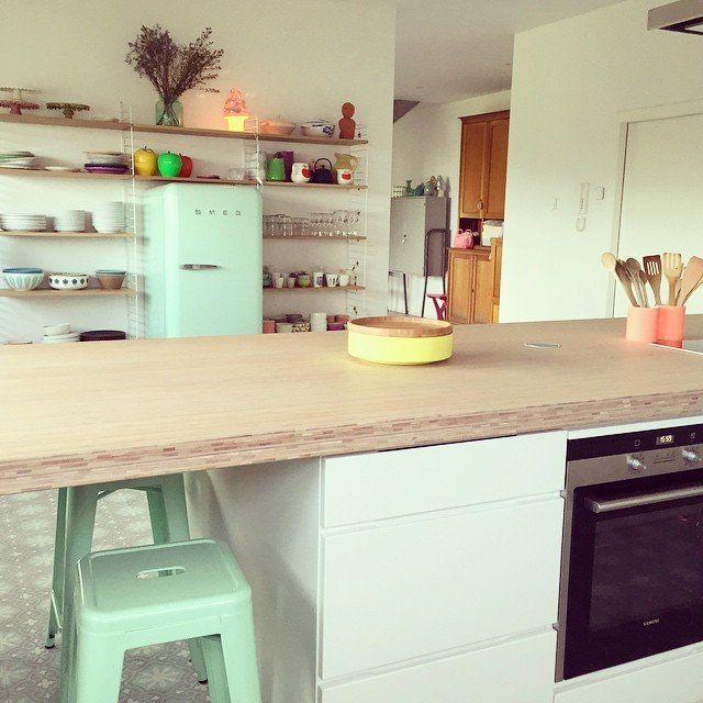Le coloris Mint s'invite dans la cuisine #madecoamoi