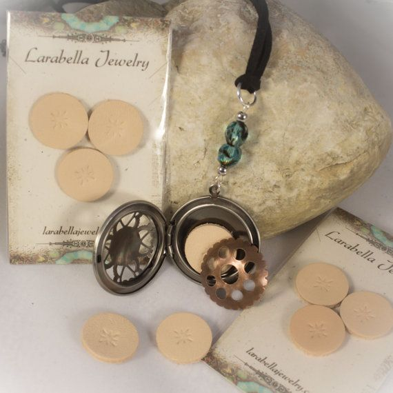 Essential Oils Locket Leather Diffuser Refill by LaraBellaJewelry
