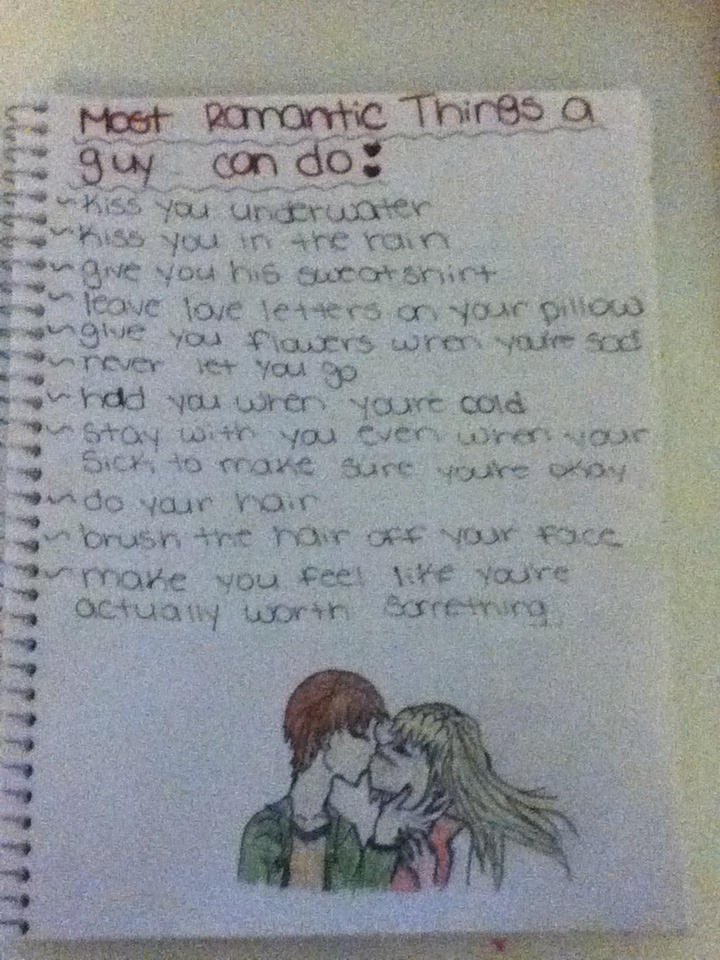 what romantic things do guys like