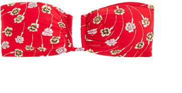 U-front bandeau bikini top in falling floral print