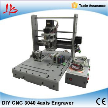 PCB Milling Machine CNC 3040 DIY CNC Wood Carving Mini Engraving Machine PVC Mill Engraver Support MACH3 System