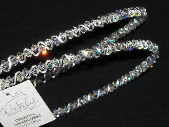 Silver Design Stefana with Swarovski Crystals sent to New South Wales, Australia
