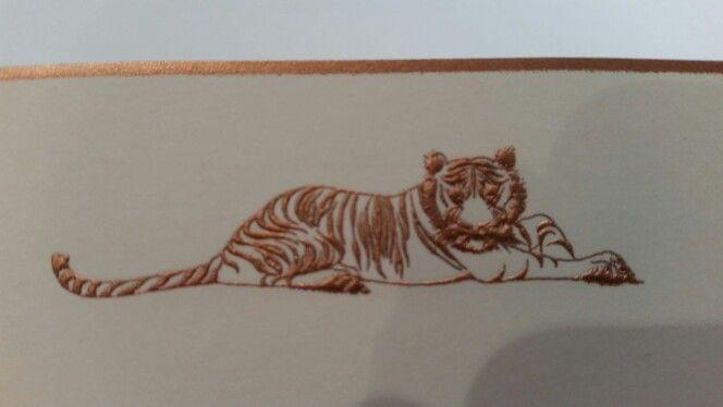Engraved tiger for all that inner kitten