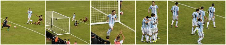 https://flic.kr/p/J1jCnN | Messi Scores (Foxborough, Massachusetts) | When Messi made history at Gillette Stadium!  Argentina beats Venezuela 4-1 and Messi ties Batistuta's Argentine goal scoring record.