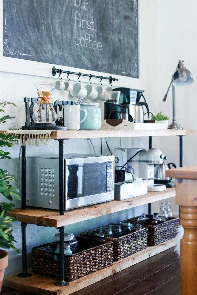 DIY Black Pipe Coffee Bar Station Materials | Recipe | Black Pipe ...