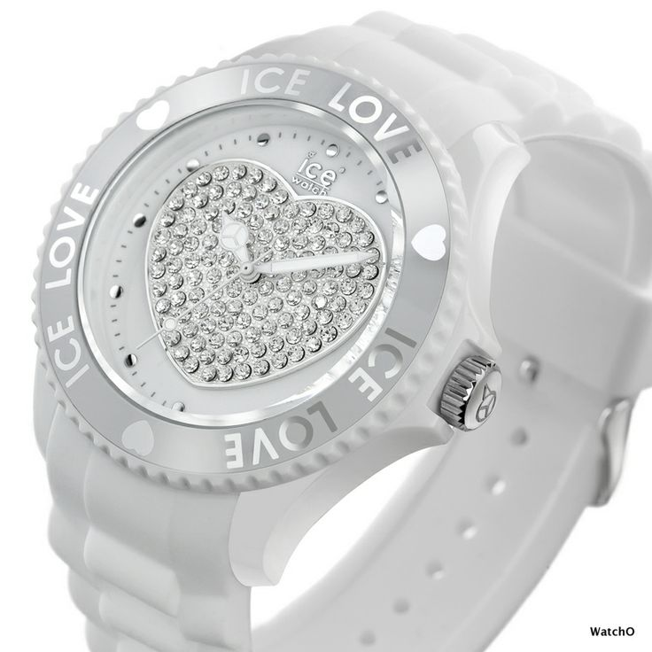 Ice-Watch Love Collection  These watches have a heart design in the middle of the dial. A Swarovski Element on the crown and a soft silicone strap, makes it a stylish and comfortable watch to wear.  See the entire Collection at:-  http://www.watcho.co.uk/watches/ice-watch/ice-watch-ice-love-watches.html