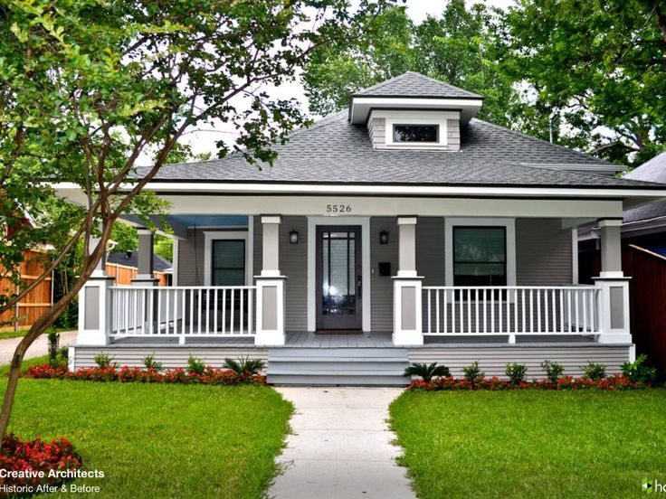 Grey and white, railings, verandah
