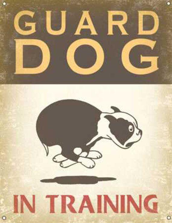Boston Terrier Guard Dog Vintage Decoupage