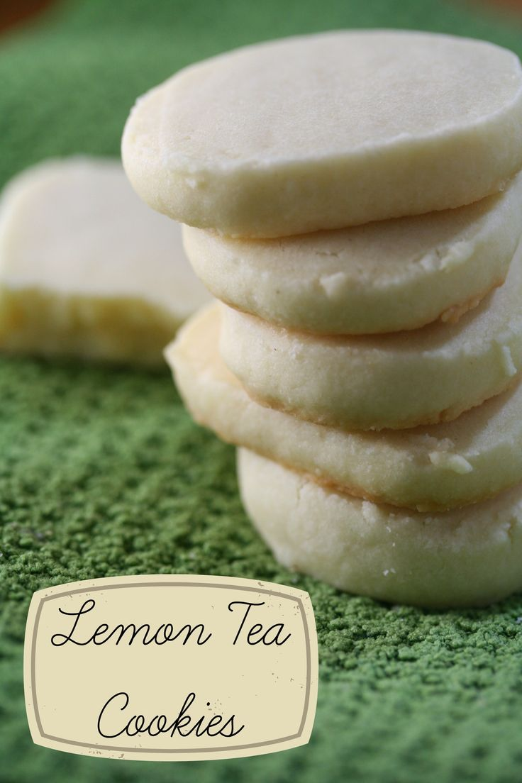 Lemon Tea Cookies. Lovely for a Hardey girl afternoon tea! Which we haven't done in forever.