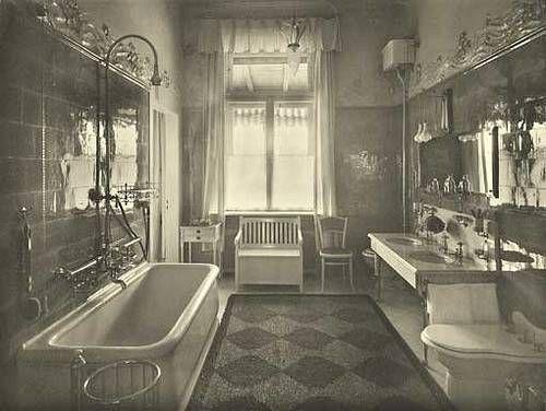17 best images about art nouveau bathroom on pinterest for Bathroom designs 1900 s