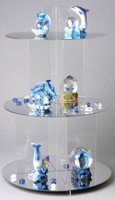 Acrylic Shelf Cascade Displays : Acrylic / Perspex Shelf Cascade Displays