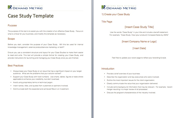 Case Study Template - A case study template to highlight a customer's problem and show how you solved it. Get it here: http://www.demandmetric.com/content/case-study-template
