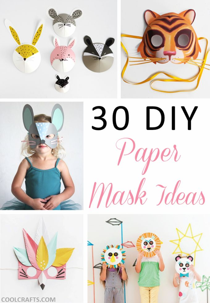 30 DIY paper mask design ideas, http://www.coolcrafts.com/diy-paper-mask-designs/