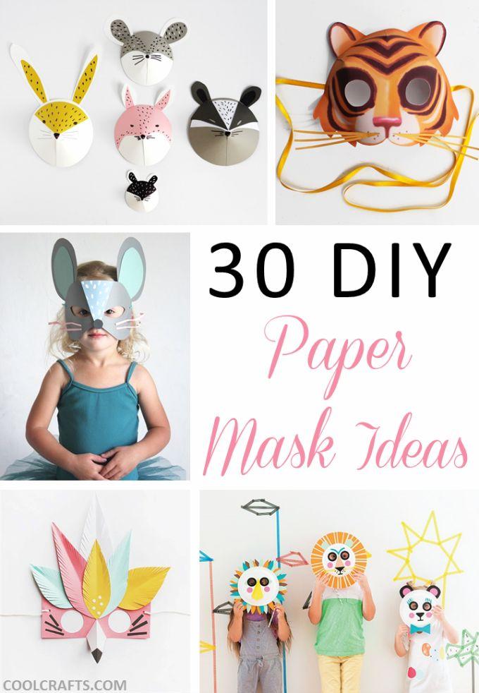 30 DIY paper mask design ideas, http://www.coolcrafts.com/diy-paper-mask-designs/