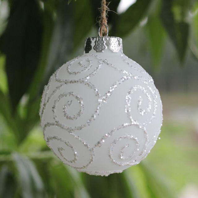 Dia8cm event party bruiloft glas ballen kerst ornament ballen glazen boom hanger…