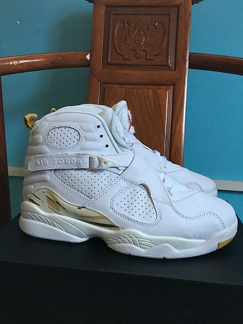 competitive price 903ed 4d3ab Youth Air Jordan 8 VIII Boys Shoe Championship Trophy Light Bone Metallic  Gold White 832821 030