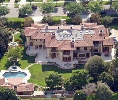 Jennifer Lopez and Marc Anthony's house (when they were actually together)