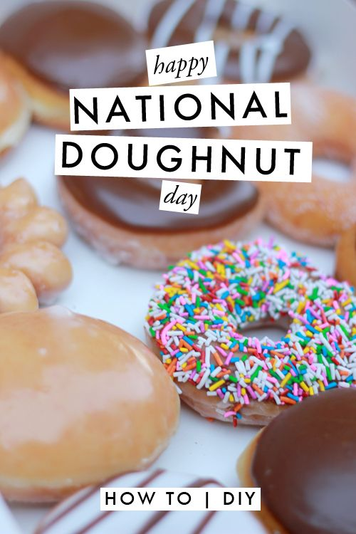 National Donut Day. Ideas for a celebration and DIYs.