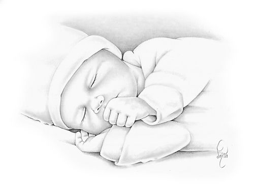 Early Infant Loss Remembrance Pencil Portraits