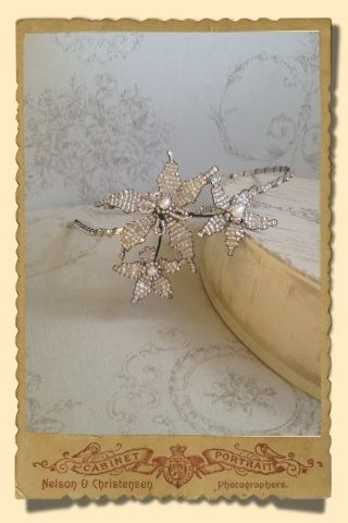 Stacey Hannan Designs - Small Daisy Cluster Wedding Headband , €120.00 (http://www.staceyhannandesigns.com/small-daisy-cluster-wedding-headband/)