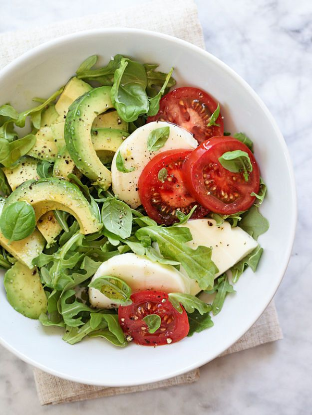 Avocado Caprese Salad | Community Post: 14 Summery Salads That Prove Eating Healthy Can Be Delicious