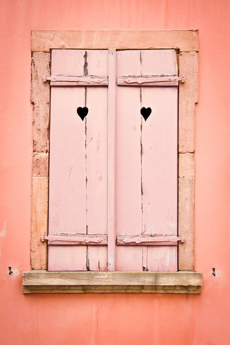Love the pink windows with the hearts