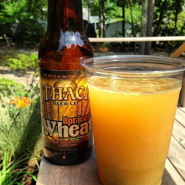 #Beermosa with Apricot Wheat Ale - a different and refreshing brunch drink.