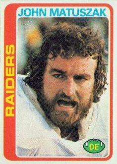 John Matuszak Oakland Raiders   topps 439 john matuszak oakland raiders football cards oakland raiders ...