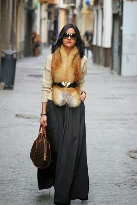 Belted fur scarf. NOT SKIRT