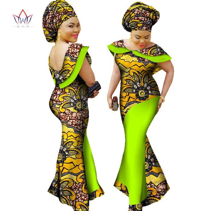 Plus Size winter dresses women 2017 traditional african fashion Clothing Africa Wax Dashiki long cotton maxi dress 7xl WY1189