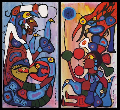The Storyteller- The Artist and His Grandfather, Norval Morisseau 1978