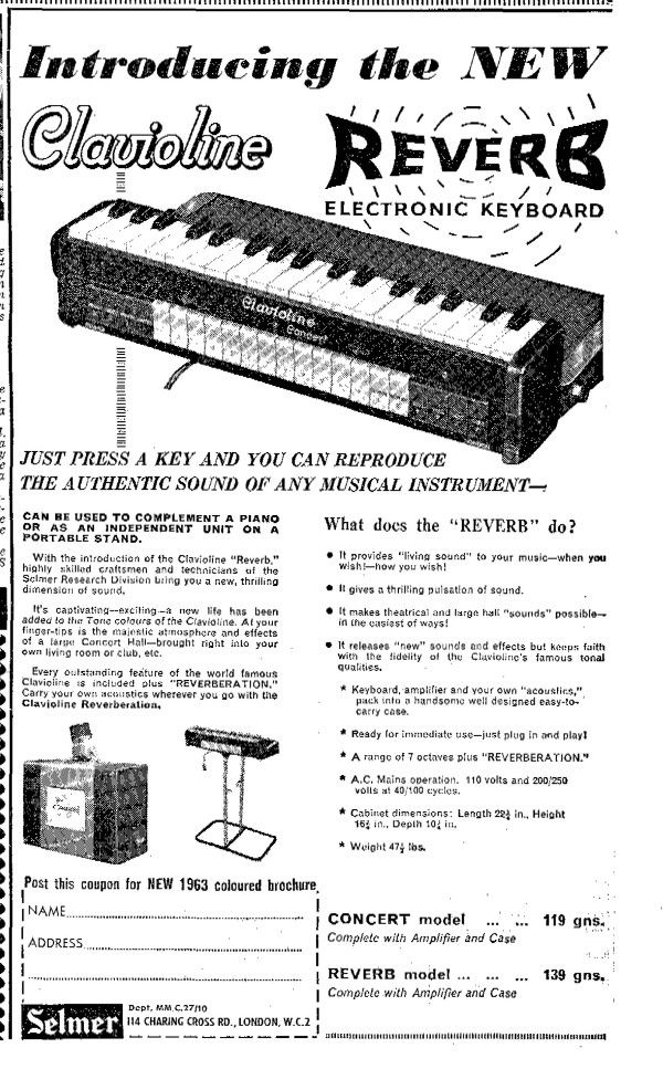 Fancy reproducing that Telstar keyboard sound? Here you go