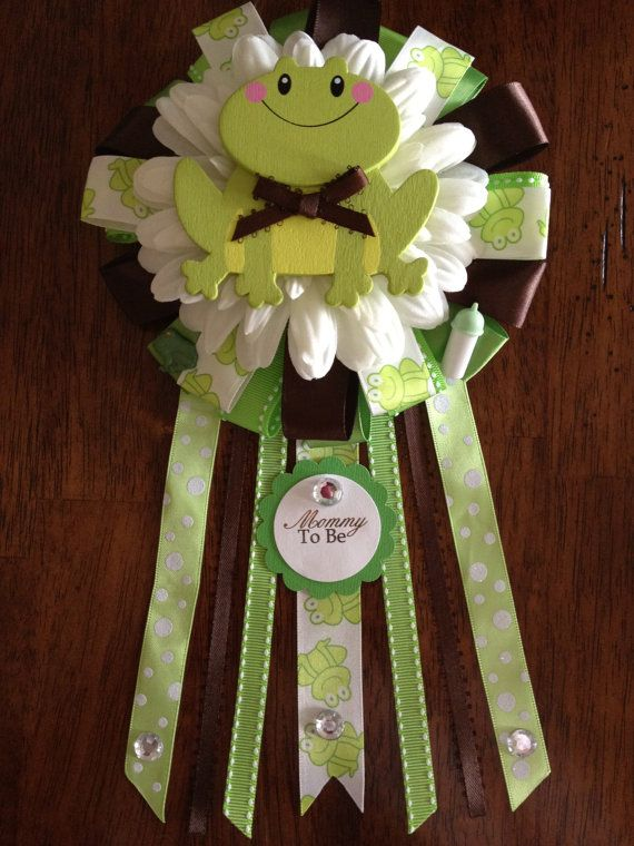 NEW Frog Mommy To Be Corsage by AngelinaBellaFina on Etsy, $20.00