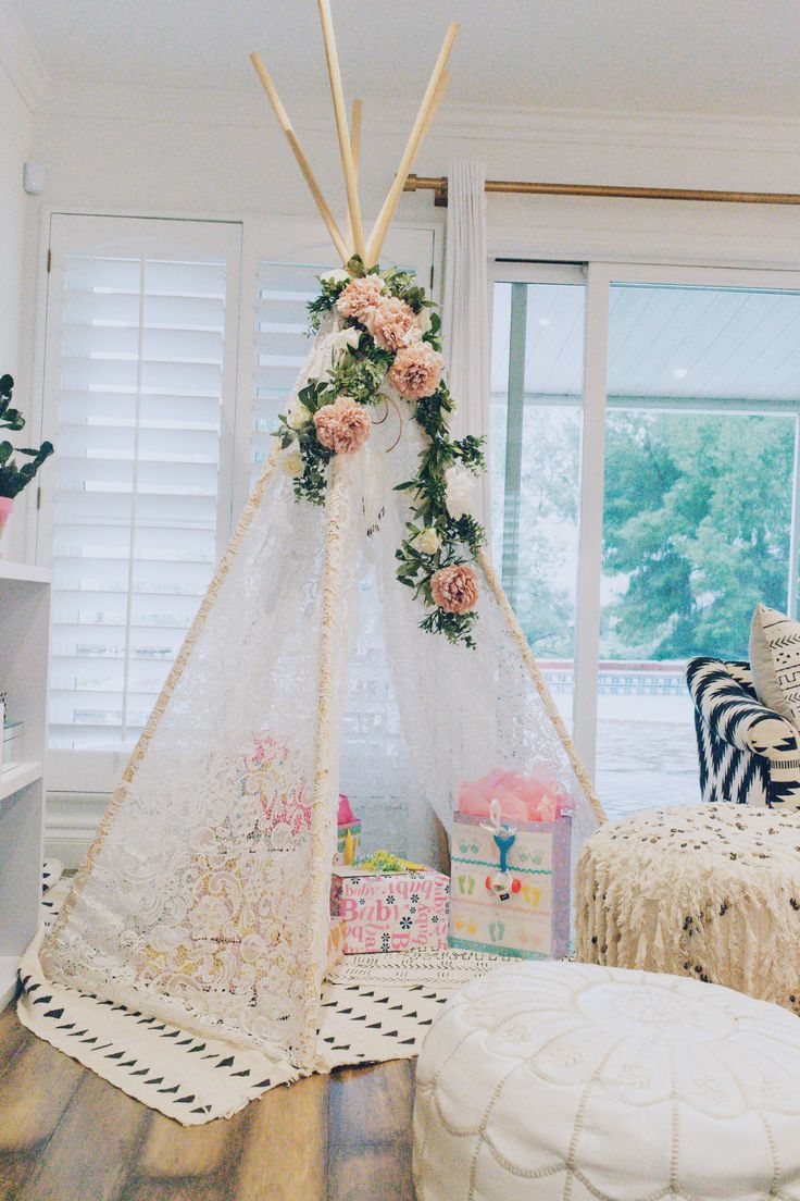 DIY lace teepee