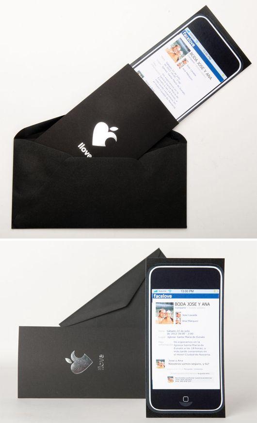 original invitacin de boda smartphone de abril bodas