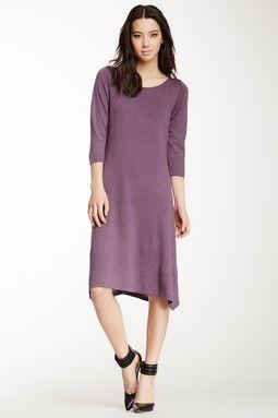 3/4 Sleeve Merino Wool Knit Dress