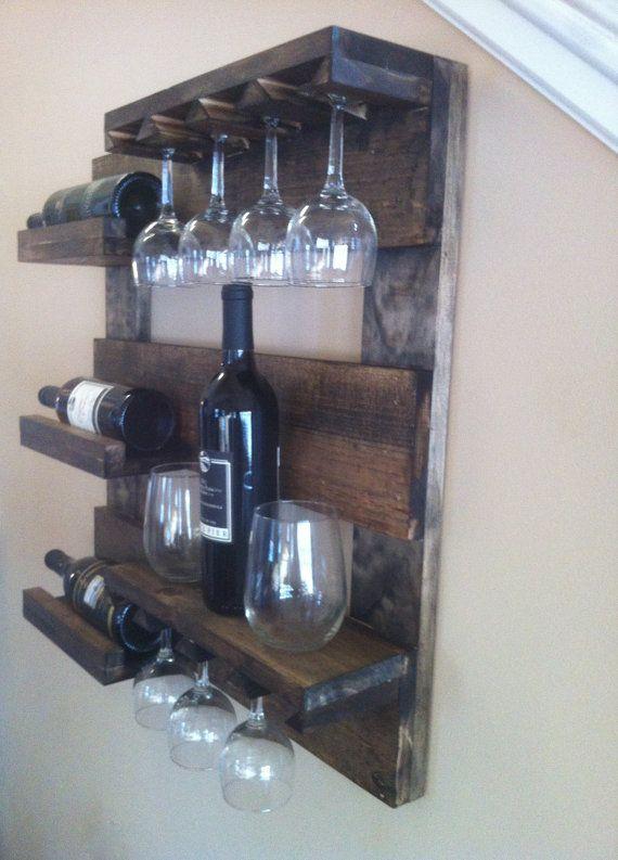 Botellero Botellero rústico madera recuperada por TheWoodenOwl