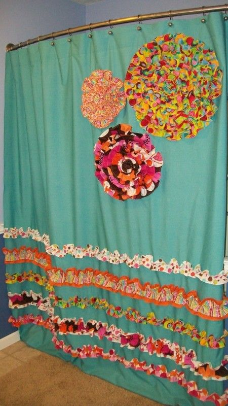 Teal And Orange Shower Curtain Khristain A Howell Greenwich