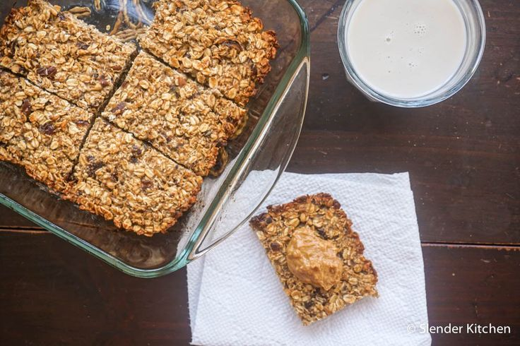 Banana Peanut Butter Oat Bars with Dates