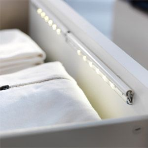 Ikea lights for your drawers...