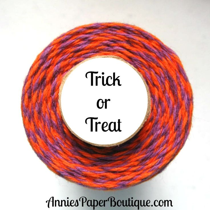Trick or Treat Trendy Twine - purple and black bakers twine - Halloween Bakers twine.