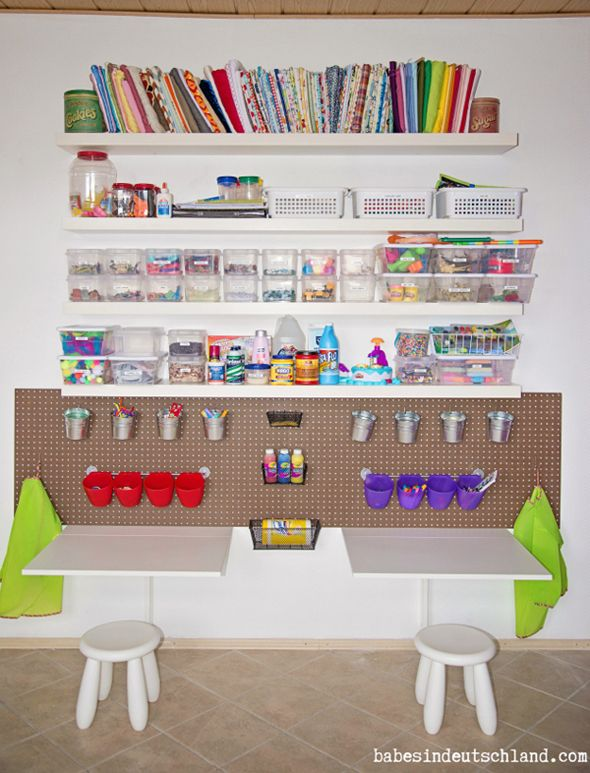 9 Kids Art E And Storage Ideas For The Home Pinterest Room